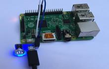 Minicomputadora Raspberry Pi.