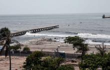 Panorámica del muelle de Puerto Colombia.