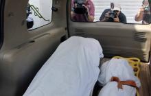 Los cadáveres del migrante salvadoreño y su hija.