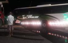 El bus de servicio público que causó la tragedia en Malambo.
