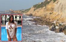 Acantilado donde la atleta se sumergió en compañía de su novio Julián González.