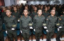 Grupo de auxiliares de Policía que se suman a la seguridad de Santa Marta.