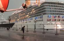 Un crucero gigante pierde el control en Venecia pero evita chocar