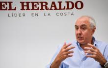 Pablo Gómez de Olea durante la visita de ayer en la tarde a EL HERALDO.