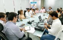 La reunión de autoridades electorales y Electricaribe.
