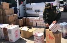 Dian y Policía Fiscal Aduanera aprehenden mercancía de contrabando