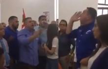 En video   Senador Acuña y concejal Vergara se enfrentan en sede del Partido Conservador