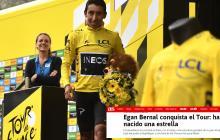 Así registró la prensa internacional el título de Egan Bernal