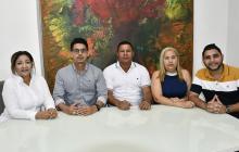 Esmirna Molina, Edgardo Gómez, Ciro Salazar, Yolanda Calvo y Carlos Tulena.