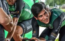 El ciclista barranquillero Nelson Soto corre hace año y medio para el equipo Caja Rural de España.