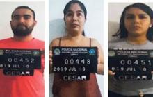 Jorge Andrés y Katherine Paola Bustamante Navarro, y Grettel Eliana Daza.