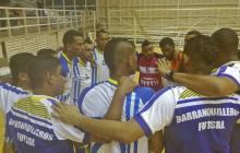 Los jugadores de Barranquilleros celebrando ayer.