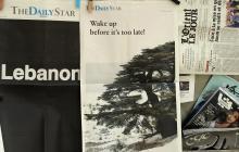 Portada del diario Daily Star en el Líbano.