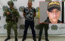 Gabriel Alfaro Soto Ramos (izq), patrullero César Orlando Chávez González (recuadro).