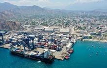 Vista aérea del Puerto de Santa Marta.