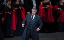 Puesta en escena del español Plácido Domingo.