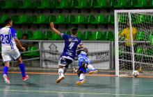 El defensor y capitán de los Barranquilleros, Kevin Sánchez, anotó el segundo tanto del triunfo ayer.