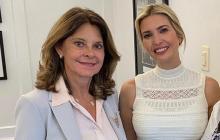 Martha Lucía Ramírez, vicepresidenta de Colombia, junto a Ivanka Trump.