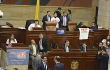 Debate en la plenaria de la Cámara de Representantes.