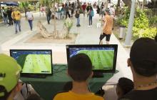 Deportes extremos y videojuegos se tomaron la Plaza de la Paz