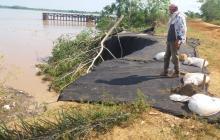 Erosión del río en 'Cara'e gato' tiene en alerta a La Mojana