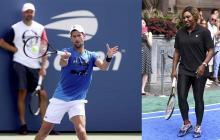 Novak Djokovic y Serena Williams.