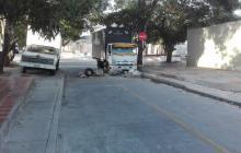 Esta es la calle 34 con carrera 11 en La Palmas.