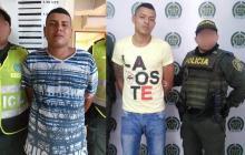 Brayan Ruíz y Osman Blanco, capturados por las autoridades.