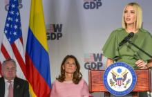Ivanka Trump preside el acto de lanzamiento del programa para mujeres.
