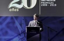 Eric Flesch, CEO de Promigas, durante la presentación del informe ayer en Bogotá.