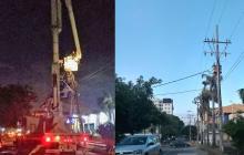 Tras reporte en Wasapea, Electricaribe arregló poste a punto de caerse