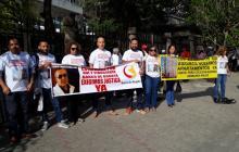 Afectados realizaron protesta para exigir justicia.