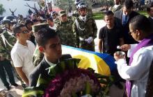 En video | Honores para el soldado monteriano muerto en emboscada en Caucasia