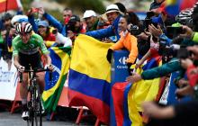 Parte de la etapa 20 de la Vuelta a España.