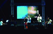La agrupación Páramo Quinteto interpretó fusiones de jazz instrumental con ritmos colombianos durante el segundo día de Barranquijazz a la Calle.