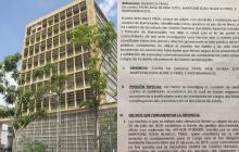Facsímil de la denuncia que interpuso la secretaria de Gestión Humana del Distrito contra dos de las presuntas víctimas.