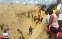 Alud de tierra segó la vida de dos trabajadores