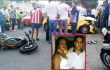 Muere mujer en accidente en moto en Valledupar y su hijo está grave