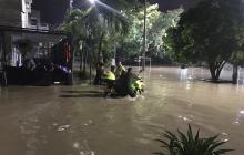 Algunos sectores permanecían ayer bajo el agua.