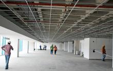Obras de modernización y ampliación que se realizan en el aeropuerto internacional Ernesto Cortissoz.