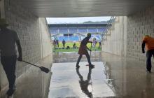"""Inundación en el 'Sierra Nevada': """"Drenaje del estadio no dio abasto"""": alcalde"""