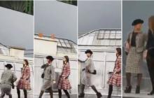 En video   Humorista francesa irrumpe en desfile de Chanel en París