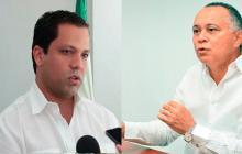 El exgobernador del Cesar, Luis Alberto Monsalvo Gnecco, y el exalcalde de Valledupar, Fredys Socarrás Reales.