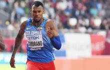 Anthony Zambrano durante una de las pruebas del Mundial de Atletismo, en Doha.