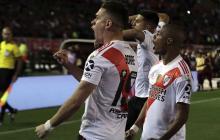 Santos Borré se luce con River Plate