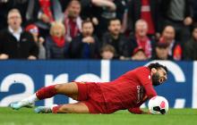 Mohamed Salah sufre una torcedura de tobillo