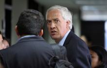 Samuel Moreno a la salida de una diligencia judicial.