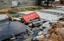 Vecinos denuncian parálisis en obras de canalización de la 21