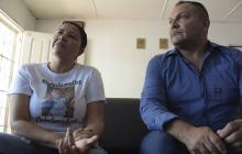 Sandra González y Adolfo Maury, padres de Kevin.