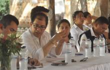 Francisco Barbosa, consejero de DDHH, en la reunión.